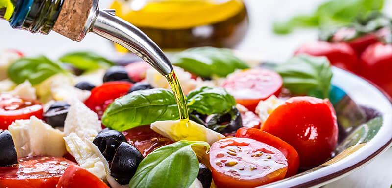 Un régime alimentaire méditerranéen
